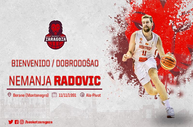 Radovic, primer fichaje rojillo. (Foto: Basket Zaragoza)