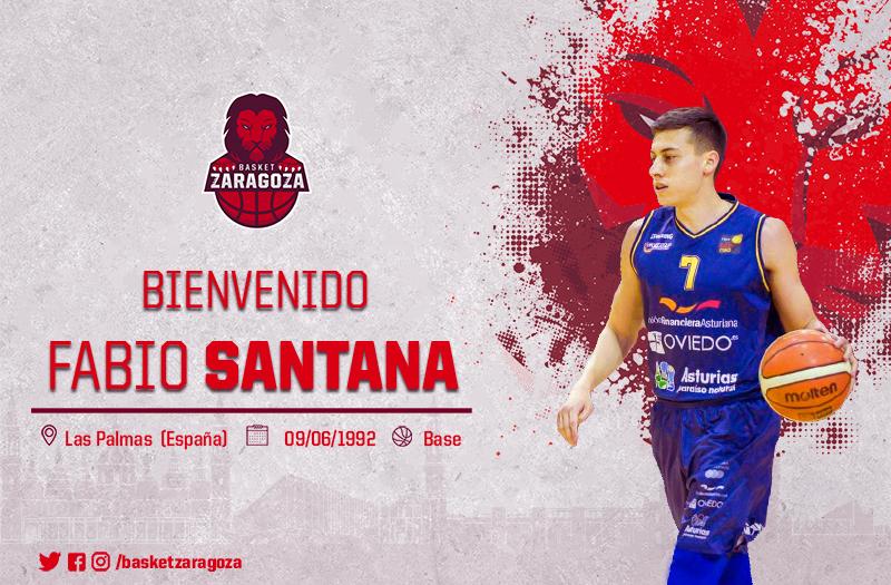 Fabio Santana, nuevo jugador del Tecnyconta. (Foto: Basket Zaragoza)